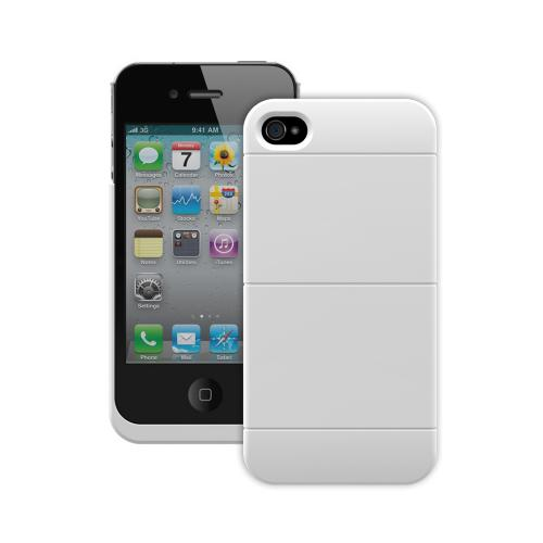Trident White Electra Qi Series Wireless Charging Hard Case w/ Screen Protector for Apple iPhone 4/4S - EL-QI-APL-IPH4S-WT