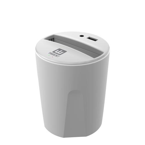 Trident White Electra Qi Series Wireless Charging Cup Holder w/ Extra USB Port for Qi Enabled Devices (Android & Windows) or Cases - EL-QI-CCH-WT