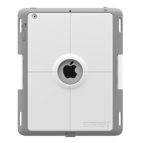 Trident Kraken AMS Industrial iPad 2 Case | [Gray / White] Kraken AMS Industrial Series Rugged Protective Polycarbonate on Silicone Dual Layer Hybrid Case w/ Built-in Screen Protector for Apple iPad 2 | Great Alternative to Otterbox!