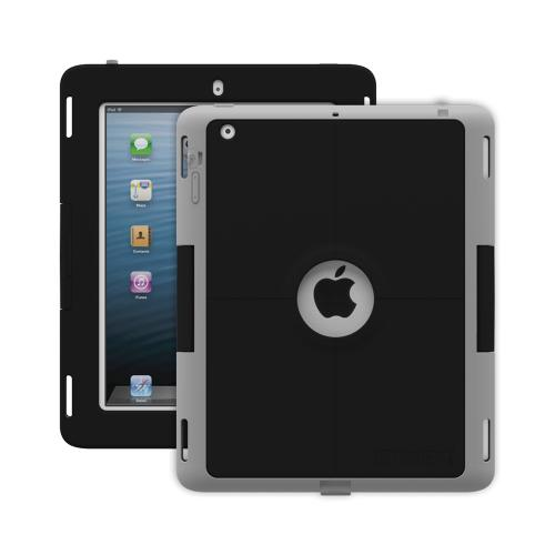 Trident Black/ Gray Apple Ipad 2/3/4 Kraken Ams Industrial Edition Hard Case On Silicone W/ Built-in Screen Protector  - Perfect For Hospitals!