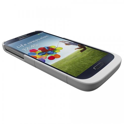 Trident White Electra Qi Series Wireless Charging Hard Case w/ Screen Protector for Samsung Galaxy S4 - EL-QI-SAM-S4-WT