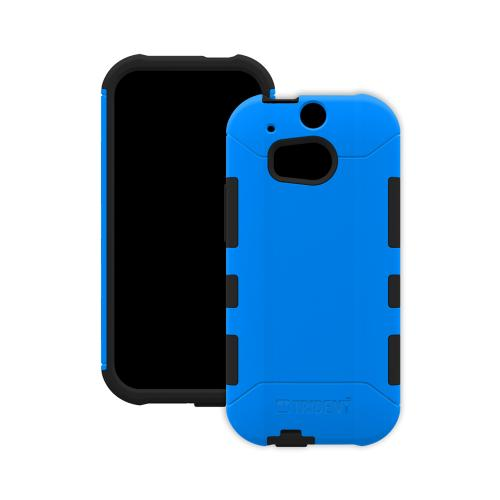 Trident Blue/ Black Aegis Series Hard Cover on Silicone Case w/ Screen Protector for HTC One (M8) - AG-HTC-M8-BLU