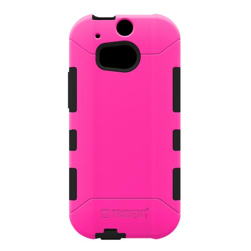 HTC One (m8) Dual Layer Case by Trident [Hot Pink] Aegis Series Featuring Hardened Polycarbonate Over Silicone Skin Hybrid Case W/ Screen Protector