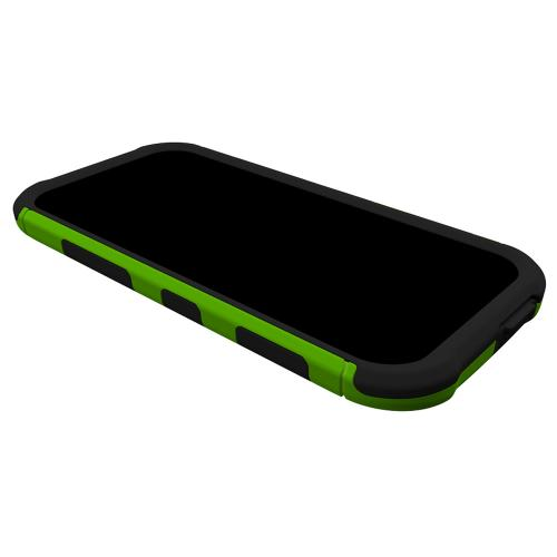 Trident Aegis One (M8) Case | [Lime Green] Aegis Series Slim & Rugged Hard Cover over Silicone Skin Dual Layer Hybrid Case w/ Screen Protector for HTC One (M8) | Great Alternative to Otterbox!