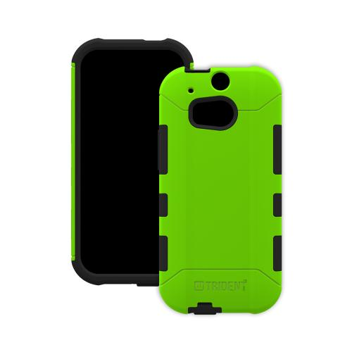 HTC One (m8) Dual Layer Case by Trident [Lime Green] Aegis Series Featuring Hardened Polycarbonate Over Silicone Skin Hybrid Case W/ Screen Protector