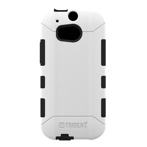 Trident Aegis One (M8) Case | [White] Aegis Series Slim & Rugged Hard Cover over Silicone Skin Dual Layer Hybrid Case w/ Screen Protector for HTC One (M8) | Great Alternative to Otterbox!