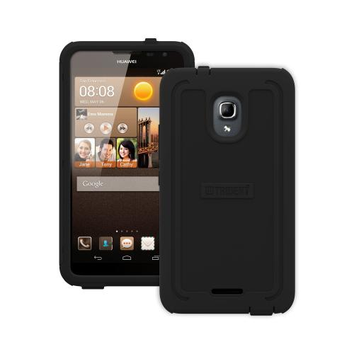 Trident Cyclops Ascend Mate 2 4G Case | [Black] Cyclops Series Rugged Fused Polycarbonate & Thermo Poly Elastomer (Super TOUGH!!) Dual Material Hybrid Case w/ Built-in Screen Protector for Huawei Ascend Mate 2 4G | Great Alternative to Otterbox!