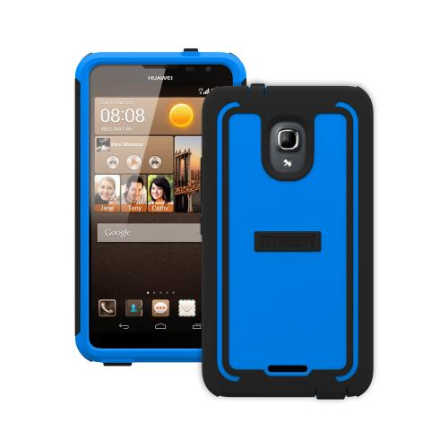Trident Blue/ Black Cyclops Series Thermo Poly Elastomer (super Tough) Hard Case W/ Built-in Screen Protector For Huawei Ascend Mate 2 4g