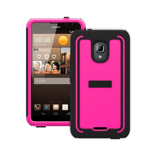 Trident Hot Pink/ Black Cyclops Series Thermo Poly Elastomer (super Tough) Hard Case W/ Built-in Screen Protector For Huawei Ascend Mate 2 4g