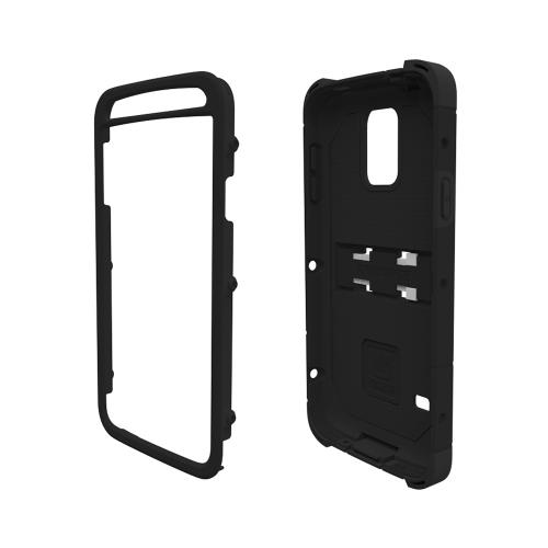 Trident Black Kraken AMS Series Hard Case on Silicone w/ Built-In Screen Protector & Holster for Samsung Galaxy S5 - KN-SSGXS5-BK000
