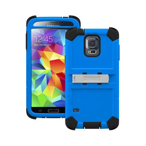 Trident Kraken AMS Galaxy S5 Case | [Blue] Kraken AMS Series Rugged Protective Hard Polycarbonate on Silicone Dual Layer Hybrid Case w/ Built-in Screen Protector for Samsung Galaxy S5 | Great Alternative to Otterbox!