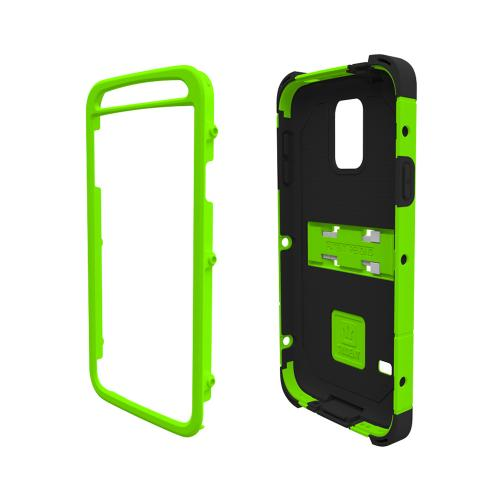 Trident Kraken AMS Galaxy S5 Case | [Lime Green] Kraken AMS Series Rugged Protective Hard Polycarbonate on Silicone Dual Layer Hybrid Case w/ Built-in Screen Protector for Samsung Galaxy S5 | Great Alternative to Otterbox!