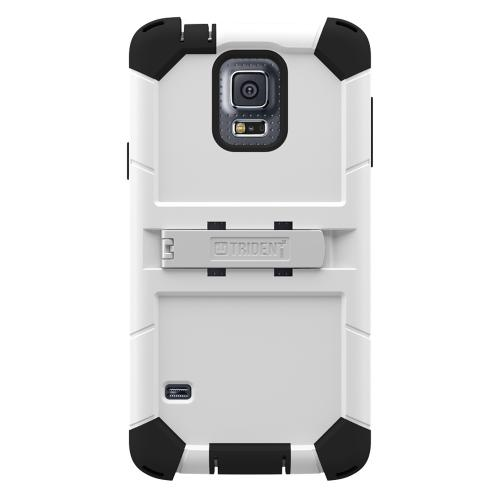 Galaxy S5 Dual Layer Case by Trident | [White] Kraken AMS Series Featuring Hard Polycarbonate On Silicone Hybrid Case w/ Built-in Screen Protector