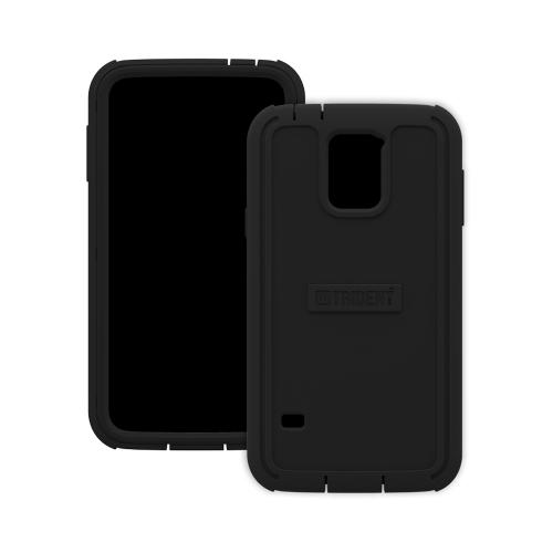 Trident Cyclops Galaxy S5 Case | [Black] Cyclops Series Rugged Fused Polycarbonate & Thermo Poly Elastomer (Super TOUGH!!) Dual Material Hybrid Case w/ Built-in Screen Protector for Samsung Galaxy S5 | Great Alternative to Otterbox!