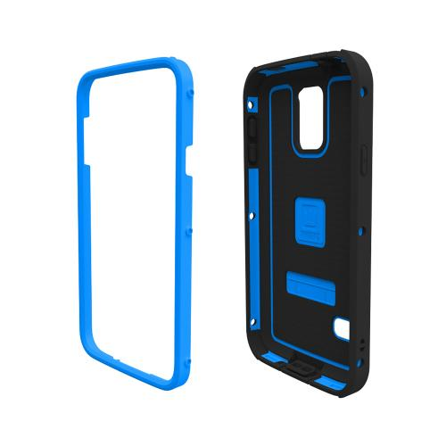 Galaxy S5 Hybrid Case by Trident | [Blue] Cyclops Series Rugged Fused Polycarbonate & Thermo Poly Elastomer Hybrid Case W/ Built-in Screen Protector