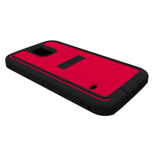 Galaxy S5 Hybrid Case by Trident | [Red] Cyclops Series Featuring Fused Polycarbonate & Thermo Poly Elastomer Case W/ Built-in Screen Protector