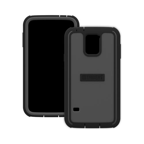 Trident Gray/ Black Cyclops Series Thermo Poly Elastomer (Super TOUGH) Hard Case w/ Built-In Screen Protector for Samsung Galaxy S5 - CY-SSGXS5-GY000