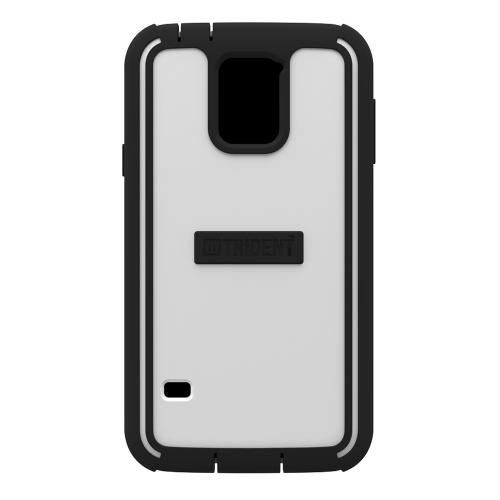 Trident White/ Black Cyclops Series Thermo Poly Elastomer (super Tough) Hard Case W/ Built-in Screen Protector For Samsung Galaxy S5