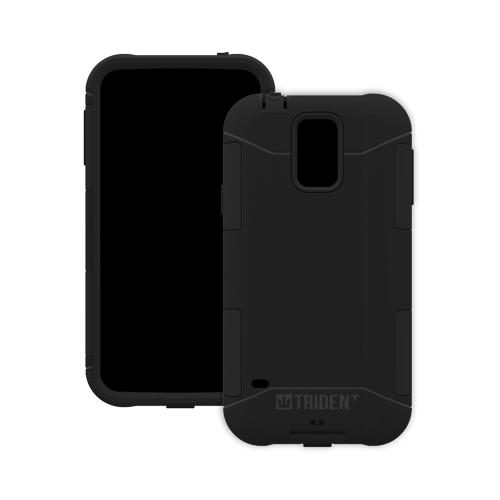 Trident Aegis Galaxy S5 Case | [Black] Aegis Series Slim & Rugged Hard Cover over Silicone Skin Dual Layer Hybrid Case w/ Screen Protector for Samsung Galaxy S5 | Great Alternative to Otterbox!