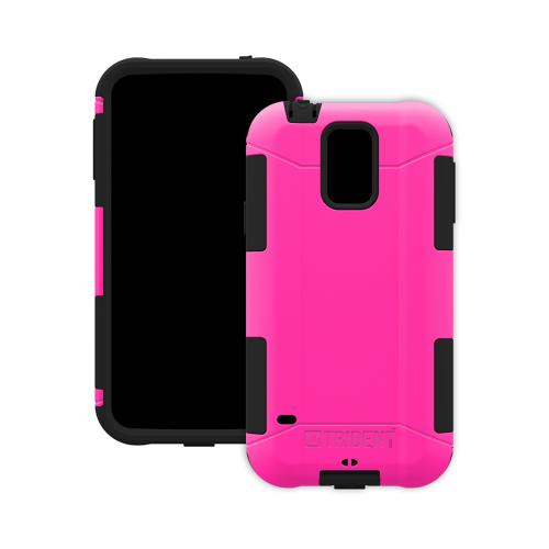 Trident Hot Pink/ Black Aegis Series Hard Cover Over Silicone Skin Case w/ Screen Protector for Samsung Galaxy S5 - AG-SSGXS5-PK000
