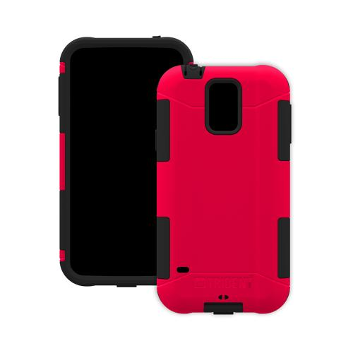 Trident Red/ Black Aegis Series Hard Cover Over Silicone Skin Case w/ Screen Protector for Samsung Galaxy S5 - AG-SSGXS5-RD000
