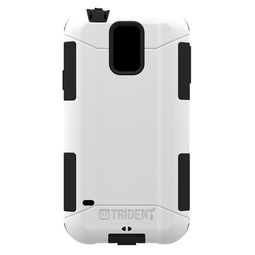Galaxy S5 Dual Layer Case by Trident [White] Aegis Series Featuring Hardened Polycarbonate Over Silicone Skin Hybrid Case W/ Screen Protector
