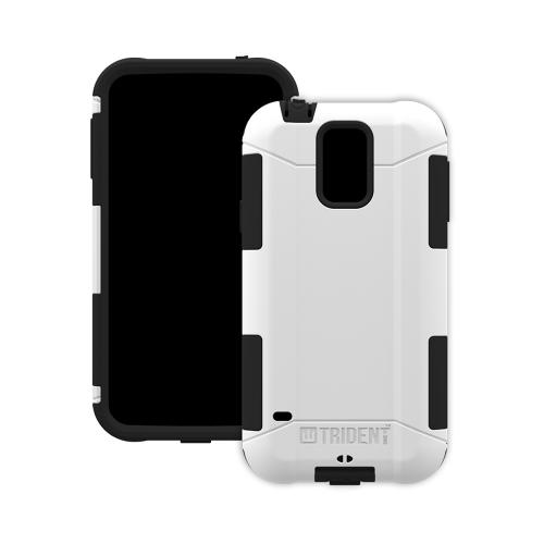 Trident White/ Black Aegis Series Hard Cover Over Silicone Skin Case w/ Screen Protector for Samsung Galaxy S5 - AG-SSGXS5-WT000
