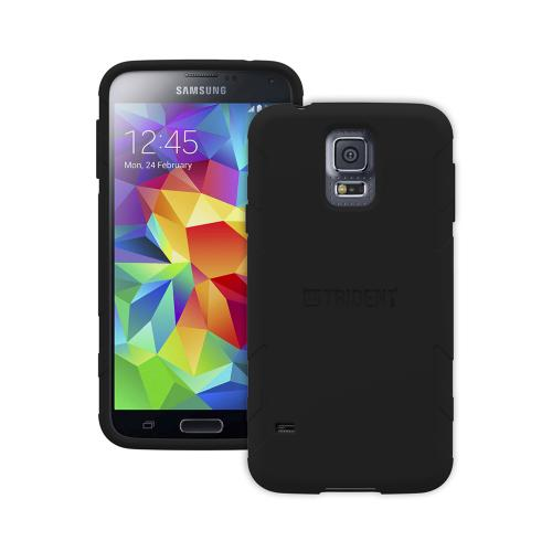 Trident Perseus Galaxy S5 Case | [Black] Perseus Series Ultra Slim & Flexible Crystal Silicone TPU Skin Cover Case w/ Screen Protector for Samsung Galaxy S5 | Super Slim & Impact-Resistant!