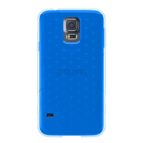 Galaxy S5 TPU Case by Trident | [Blue] Perseus Series Ultra Slim & Flexible Crystal Silicone TPU Skin Cover Case W/ Screen Protector