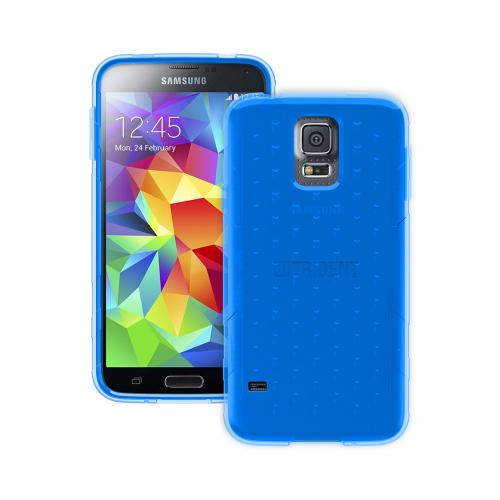 Trident Perseus Galaxy S5 Case | [Blue] Perseus Series Ultra Slim & Flexible Crystal Silicone TPU Skin Cover Case w/ Screen Protector for Samsung Galaxy S5 | Super Slim & Impact-Resistant!