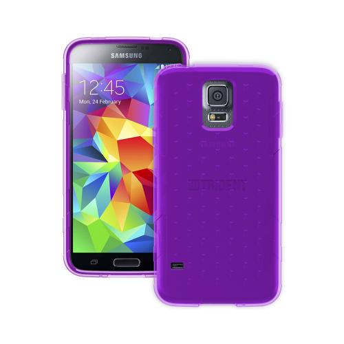 Trident Perseus Galaxy S5 Case | [Purple] Perseus Series Ultra Slim & Flexible Crystal Silicone TPU Skin Cover Case w/ Screen Protector for Samsung Galaxy S5 | Super Slim & Impact-Resistant!