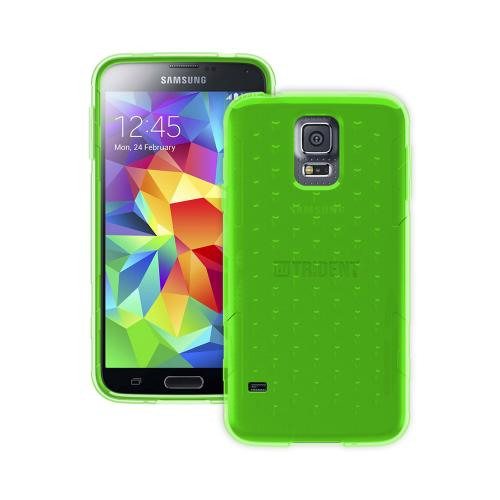 Trident Perseus Galaxy S5 Case | [Lime Green] Perseus Series Ultra Slim & Flexible Crystal Silicone TPU Skin Cover Case w/ Screen Protector for Samsung Galaxy S5 | Super Slim & Impact-Resistant!
