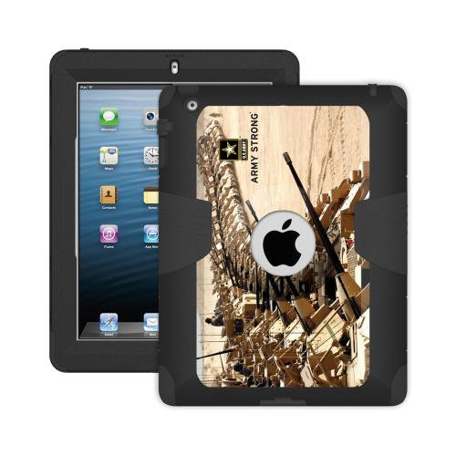 iPad 4 Dual Layer Case by Trident [Gray] Kraken AMS US Army Rugged Protective Polycarbonate on Silicone Hybrid Case W/ Built-in Screen Protector