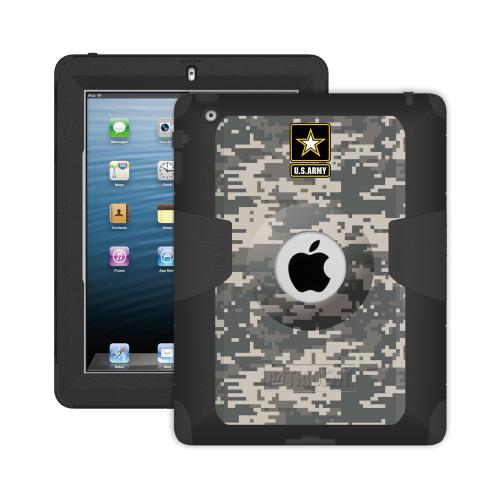 Trident U.S. Army iPad 4 Case | [Gray Digital Camo] Kraken AMS U.S. Army Series Rugged Protective Polycarbonate on Silicone Dual Layer Hybrid Case w/ Built-in Screen Protector for Apple iPad 4 | U.S. Army Licensed!