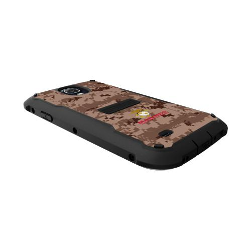 Trident U.s. Marines Military Cyclops Series Brown Digital Camo Thermo Poly Elastomer (super Tough) Hard Case W/ Built-in Screen Protector
