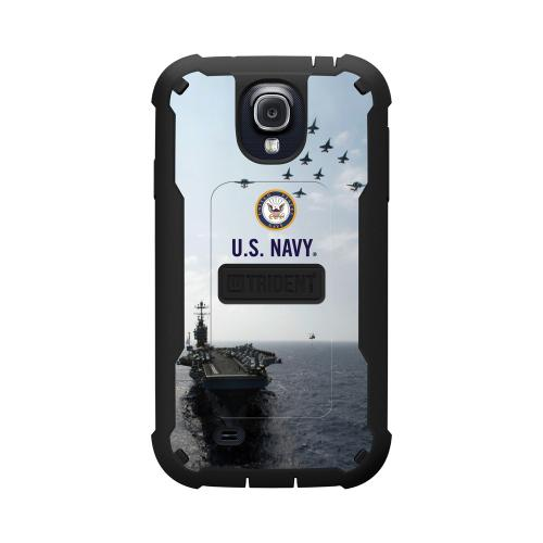 Trident U.s. Navy Military Cyclops Series Thermo Poly Elastomer (super Tough) Hard Case W/ Built-in Screen Protector For Samsung Galaxy S4