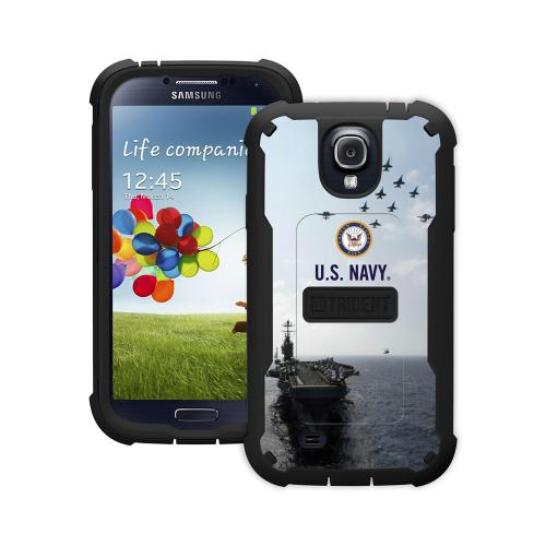 Trident U.S. Navy Galaxy S4 Case | [Blue] Cyclops U.S. Navy Series Rugged Fused Polycarbonate & Thermo Poly Elastomer (Super TOUGH!!) Hybrid Case w/ Built-in Screen Protector for Samsung Galaxy S4 | U.S. Navy Licensed!