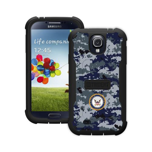 Trident U.s. Navy Military Cyclops Series Blue Digital Camo Thermo Poly Elastomer (super Tough) Hard Case W/ Built-in Screen Protector