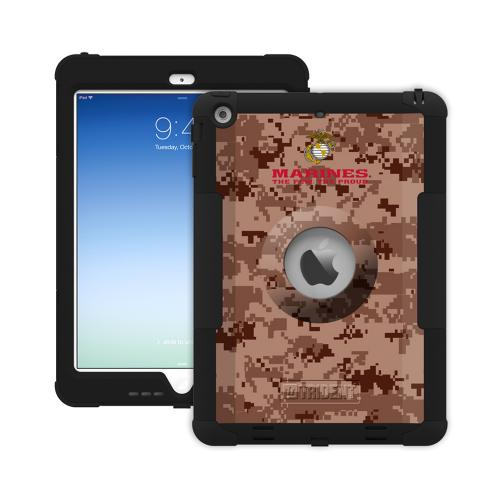 Trident U.S. Marines Military Kraken AMS Series Brown Digital Camo Hard Cover on Silicone Skin Case w/ Built-In Screen Protector for Apple iPad Air - KN-APIPAR-BKK04