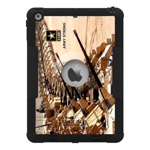 Trident U.S. Army Military Kraken AMS Series Hard Cover on Silicone Skin Case w/ Built-In Screen Protector for Apple iPad Air - KN-APIPAR-BKK05
