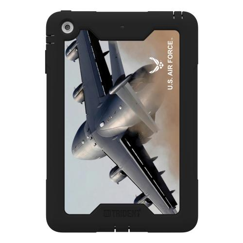 Trident U.S. Air Force Military Cyclops Series Thermo Poly Elastomer (Super TOUGH) Hard Case w/ Built-In Screen Protector for Apple iPad Mini 1/2 - CY-APIPMR-BKK01