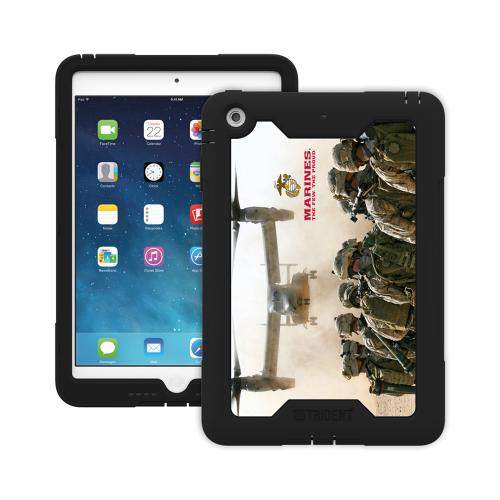 Trident U.S. Marines Military Cyclops Series Thermo Poly Elastomer (Super TOUGH) Hard Case w/ Built-In Screen Protector for Apple iPad Mini 1/2 - CY-APIPMR-BKK03