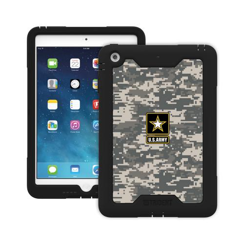 Trident U.S. Army Military Cyclops Series Gray Digital Camo Thermo Poly Elastomer (Super TOUGH) Hard Case w/ Built-In Screen Protector for Apple iPad Mini 1/2 - CY-APIPMR-BKK06