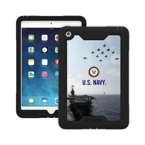 Trident U.S. Navy Military Cyclops Series Thermo Poly Elastomer (Super TOUGH) Hard Case w/ Built-In Screen Protector for Apple iPad Mini 1/2 - CY-APIPMR-BKK07
