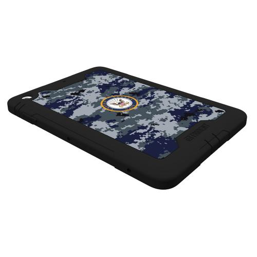 Trident U.S. Navy Military Cyclops Series Blue Digital Camo Thermo Poly Elastomer (Super TOUGH) Hard Case w/ Built-In Screen Protector for Apple iPad Mini 1/2 - CY-APIPMR-BKK08