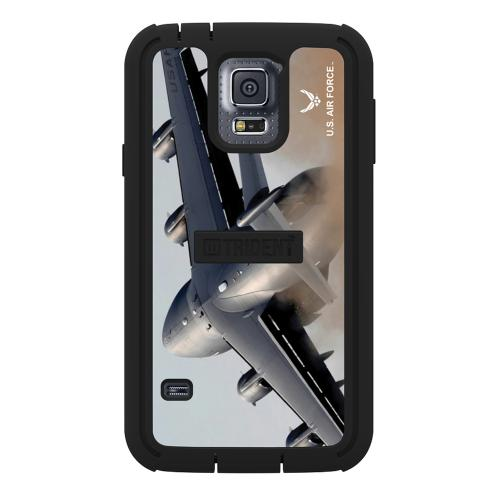 Trident U.S. Air Force Military Cyclops Series Thermo Poly Elastomer (Super TOUGH) Hard Case w/ Built-In Screen Protector for Samsung Galaxy S5 - CY-SSGXS5-BKK01