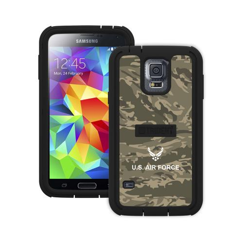 Trident U.S. Air Force Military Cyclops Series Green Camo Thermo Poly Elastomer (Super TOUGH) Hard Case w/ Built-In Screen Protector for Samsung Galaxy S5 - CY-SSGXS5-BKK02