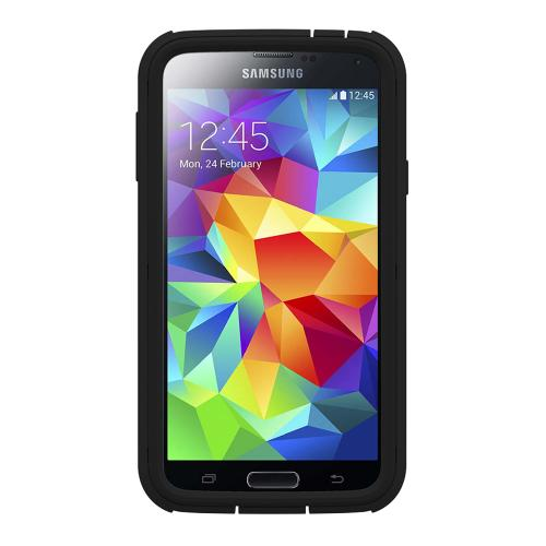 Trident U.S. Marines Military Cyclops Series Thermo Poly Elastomer (Super TOUGH) Hard Case w/ Built-In Screen Protector for Samsung Galaxy S5 - CY-SSGXS5-BKK03