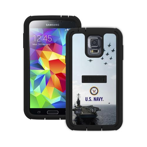 Trident U.S. Navy Military Cyclops Series Thermo Poly Elastomer (Super TOUGH) Hard Case w/ Built-In Screen Protector for Samsung Galaxy S5 - CY-SSGXS5-BKK07