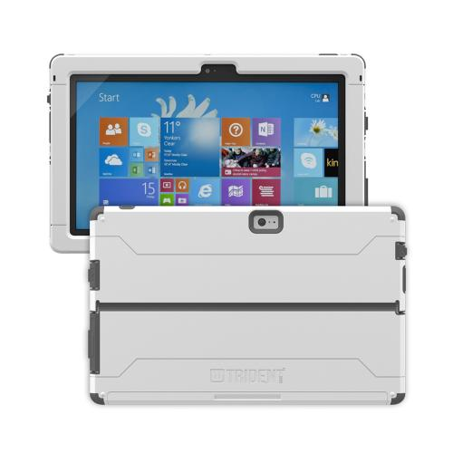 Trident Cyclops Surface 2 Case | [Gray] Cyclops Series Rugged Fused Polycarbonate & Thermo Poly Elastomer (Super TOUGH!!) Dual Material Hybrid Case w/ Built-in Screen Protector for Microsoft Surface 2 | Great Alternative to Otterbox!